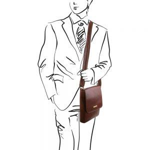 Мъжка кожена чанта за рамо JOHN TL141408-04