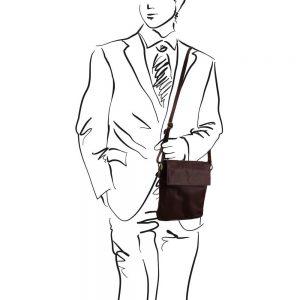 Мъжка кожена чанта за рамо MORGAN TL141511-01