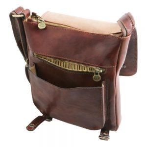 Мъжка кожена чанта за рамо ROBY TL141406-01