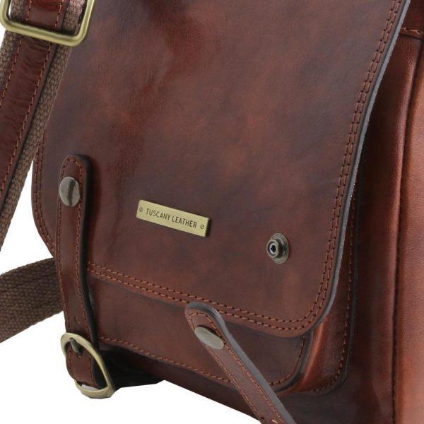 Мъжка кожена чанта за рамо ROBY TL141406-02