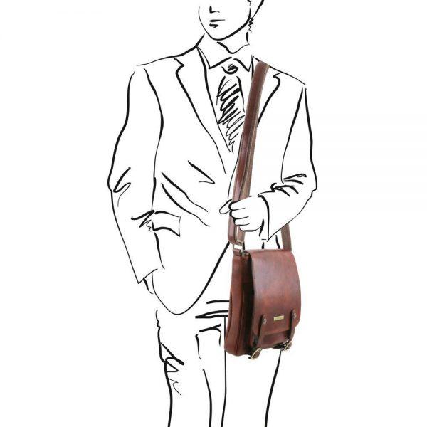 Мъжка кожена чанта за рамо ROBY TL141406-04
