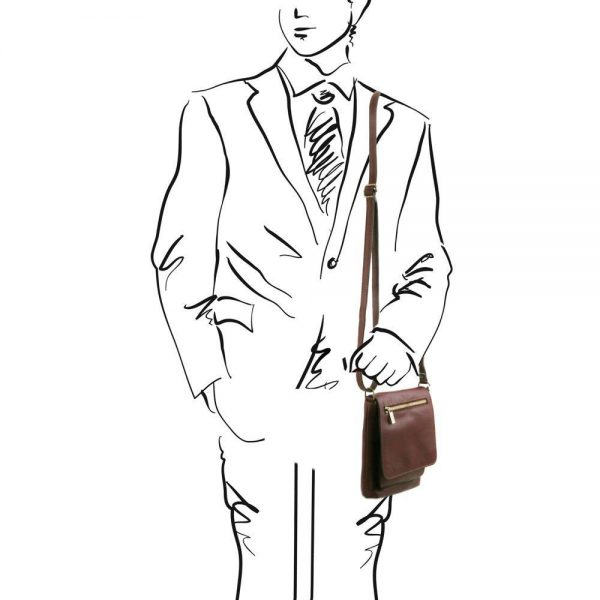 Мъжка кожена чанта за рамо SASHA TL141510-04