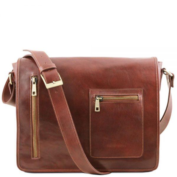 Мъжка кожена чанта за рамо TL MESSENGER TL141650-01