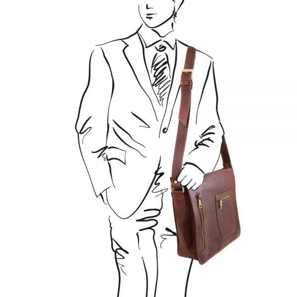 Мъжка кожена чанта за рамо TL MESSENGER TL141650-02