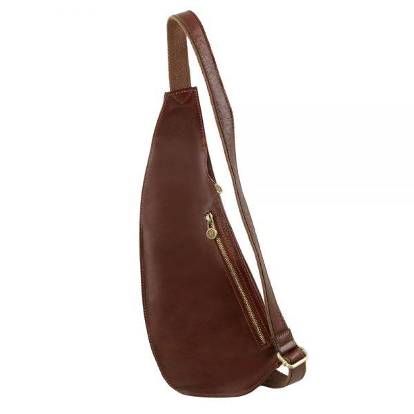 Мъжка кожена чанта за врат Leather crossover bag TL141352-01