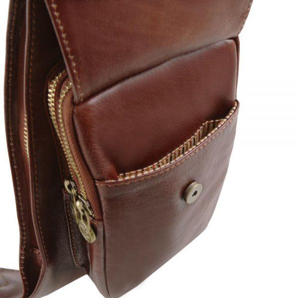 Мъжка кожена чанта за врат Leather crossover bag TL141352-02