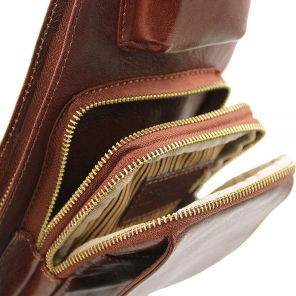 Мъжка кожена чанта за врат Leather crossover bag TL141352-03