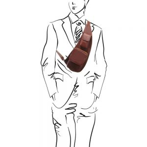 Мъжка кожена чанта за врат Leather crossover bag TL141352-04