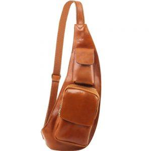 Мъжка кожена чанта за врат Leather crossover bag TL141352-07