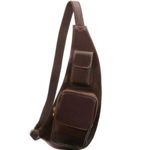 Мъжка кожена чанта за врат Leather crossover bag TL141352-09