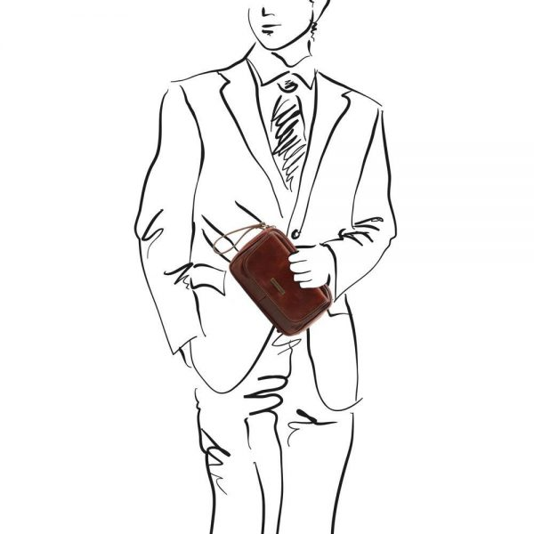Мъжка кожена ръчна чанта IVAN TL140849-04