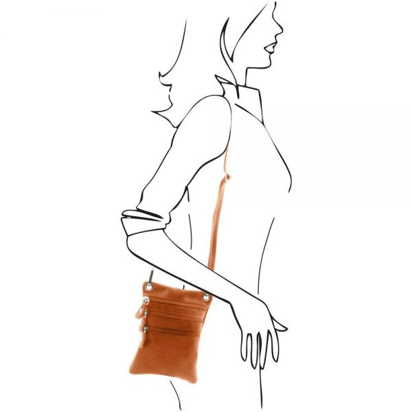 Мека кожена чанта за рамо TL BAG TL141368-03
