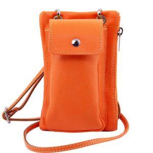 Мека кожена чантичка за телефон TL BAG TL141423-01