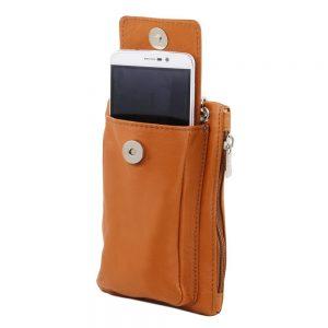 Мека кожена чантичка за телефон TL BAG TL141423-11