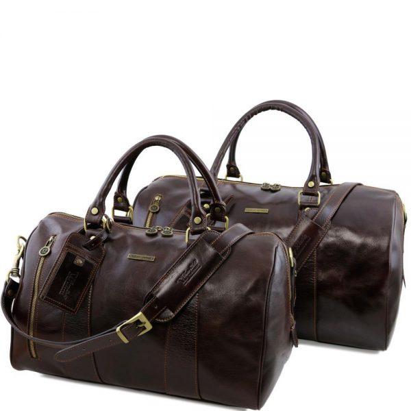Сет голяма и малка мъжки кожени чанти MARCO POLO TL141246-06