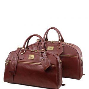 Сет кожена чанта и чанта за път MAGELLAN TL141258-05