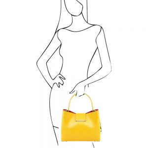 Стилна дамска кожена чанта CLIO TL141690-04