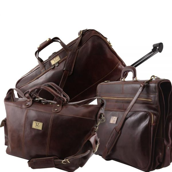Травел сет пътни кожени чанти LUXURIOUS TL141078-06