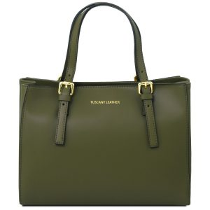 дамска кожена чанта Италия