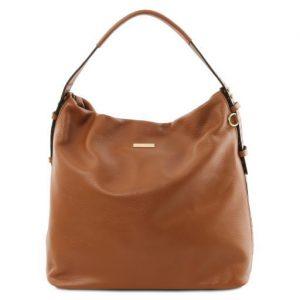 Чанта от мека естествена кожа