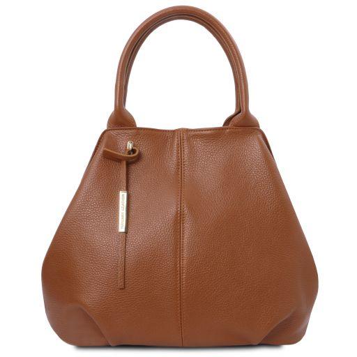 мека кожена дамска чанта