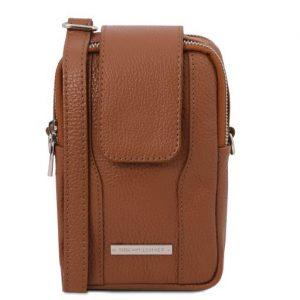 кожена чанта за телефон